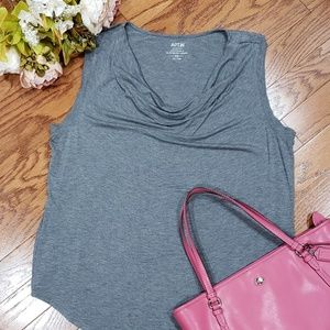 APT 9 Sleeveless Drape Gray Top Plus 2X XXL